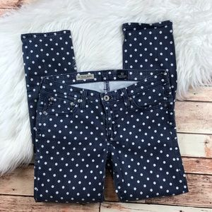 AG Stevie ankle polka dot jeans